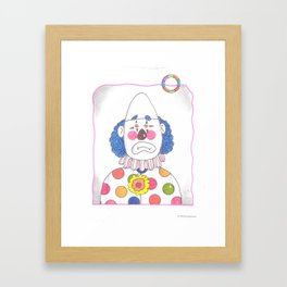Clown with Ring Framed Art Print