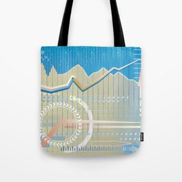 financial background Tote Bag