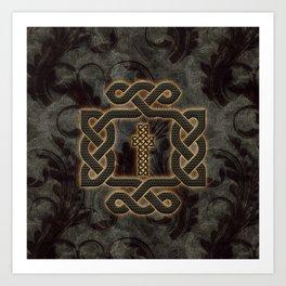 Decorative celtic knot, vintage design Art Print