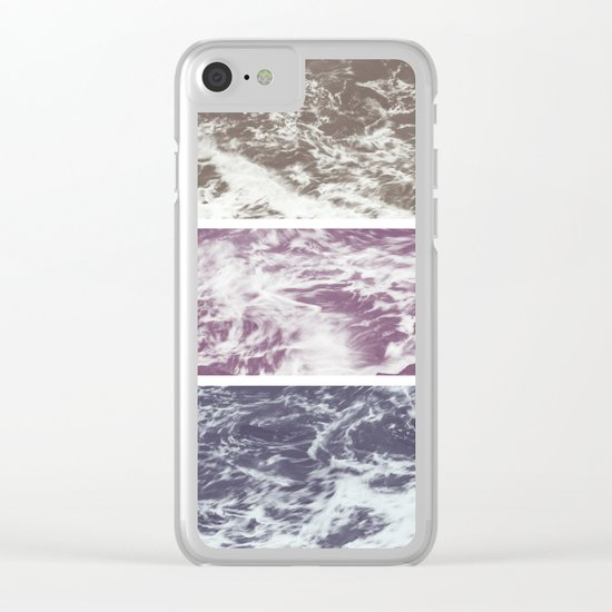 Saltwater tryptych Var I Clear iPhone Case