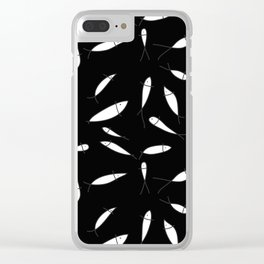 Fish pattern black Clear iPhone Case