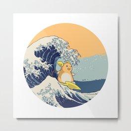 Surfin' Kanagawa Metal Print