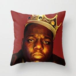 Biggie BIG Smalls Throw Pillow