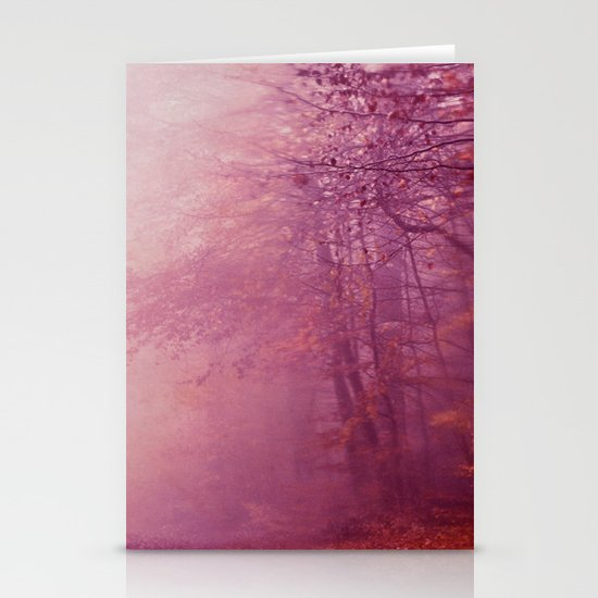 in the fog Stationery Cards