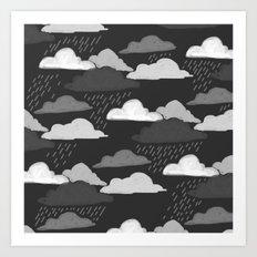 Cuddle WEather Art Print
