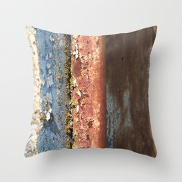 Rusted Train 2 Throw Pillow