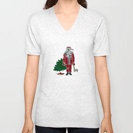 Zombie (Santa) Claus Unisex V-Neck