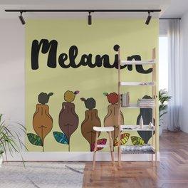 afro chica - melanin - 1 Wall Mural