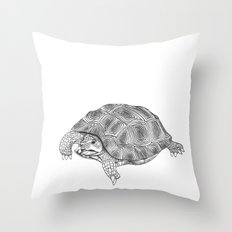 Little tortoise Throw Pillow