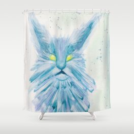 The Snow Queen's Cat Shower Curtain