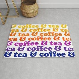 Coffee & Tea Rainbow Mug Rug