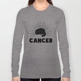 Cancer, just punch it Long Sleeve T-shirt
