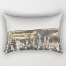Fall plant landscape print in the mountains / The Ardennes, Belgium Rectangular Pillow