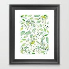 watercolor foliage Framed Art Print