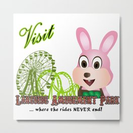 VISIT SILENT HILL, LAKESIDE AMUSEMENT PARK...  Metal Print