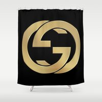 gucci Shower Curtains featuring Gucci 2 by Beauti Asylum