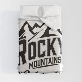 Rocky Mountains Colorado Duvet Cover