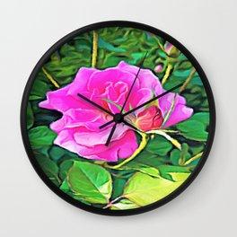 Pink Flower of Graceful Beauty Wall Clock