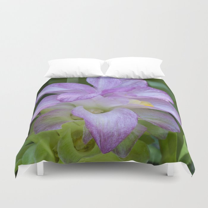Tropical Pink Flower Duvet Cover