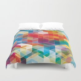 Cuben Curved #5 Duvet Cover