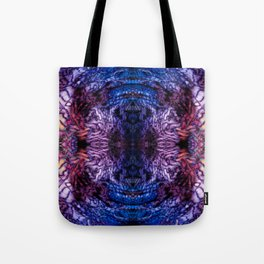 Stained Glass (Blue & Purple) Tote Bag