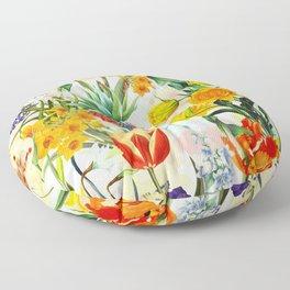 Vintage & Shabby Chic - Beautiful Botanical Spring Garden Floor Pillow