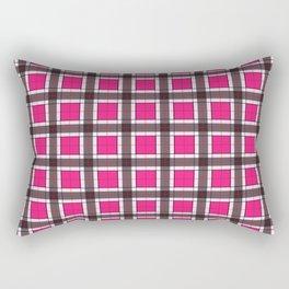 Rose Pink Plaid Pattern Rectangular Pillow