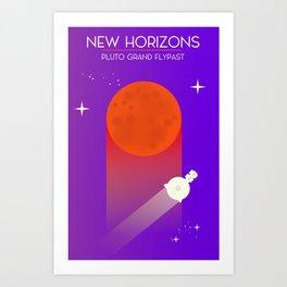 New Horizons Pluto Grand Flypast Art Print