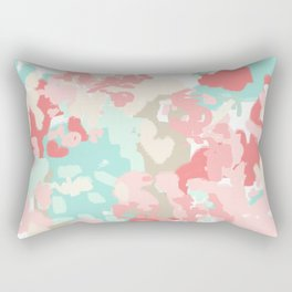 Branch - abstract minimal modern art office home decor dorm gender neutral bright happy painting Rectangular Pillow
