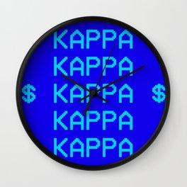 KKG KAPPA TAPESTRY Wall Clock