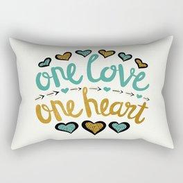 One Love One Heart Rectangular Pillow