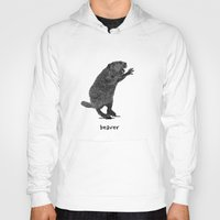 beaver Hoodies featuring Beaver by peanut