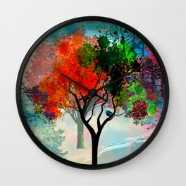Lavish Abstract Landscape Wall Clock