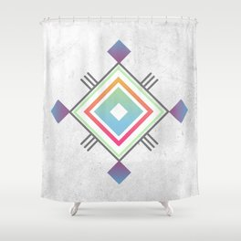 Abstract geometric indigenous symbol Shower Curtain