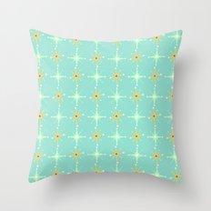 Retro Stars Throw Pillow