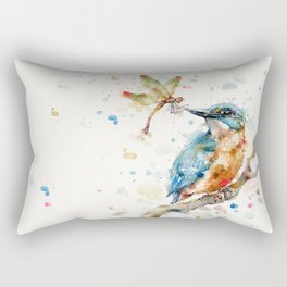 Interesting Relationships (Kingfisher & Dragonfly) Rectangular Pillow