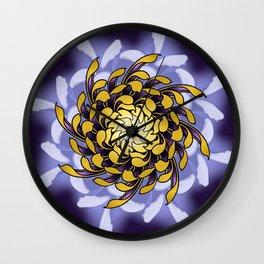 Kiku Chrysanthemum Mandala Flower Wall Clock
