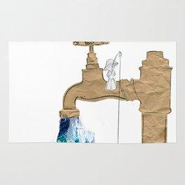 Paper Faucet Rug
