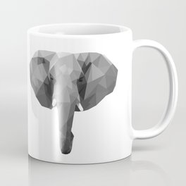 Polygonal elephant portrait Coffee Mug