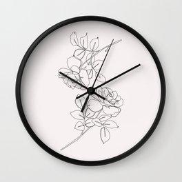Roses illustration - Delia I Wall Clock