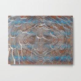 Vortex blue geometry V Metal Print