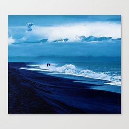 Landscape, Stormy Shore by Adam Asar Canvas Print