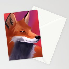 Fox Painting Stationery Cards
