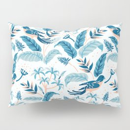 Tropical birds and leaves pattern Pillow Sham