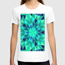 teal. blue green Mandala T-shirt