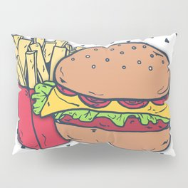 Hamburger and Fries Pillow Sham