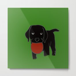 Black Lab Puppy Metal Print
