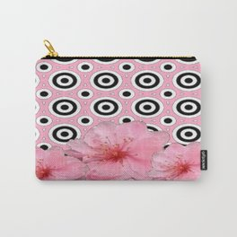 Modern Art Pink Flower Blossoms Deco Style Art Carry-All Pouch
