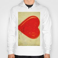 all you need is love Hoodies featuring LOVE is all you need by Irène Sneddon