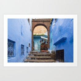Doors - Chefchaouen II, Morocco Art Print